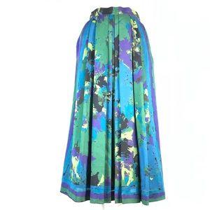 Vintage Geiger wool pleated skirt